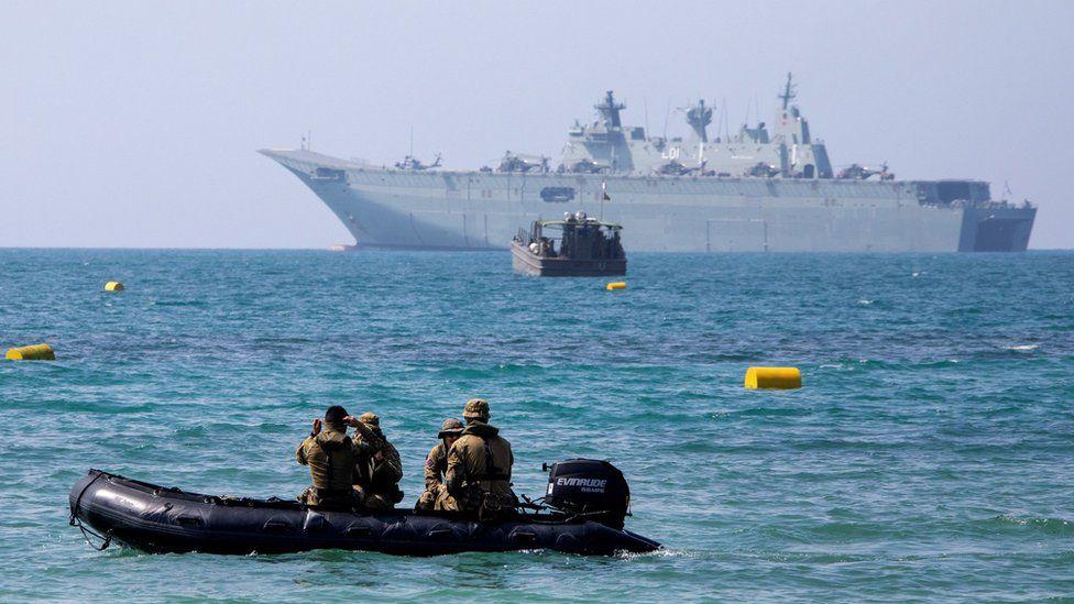 Australian military vessel