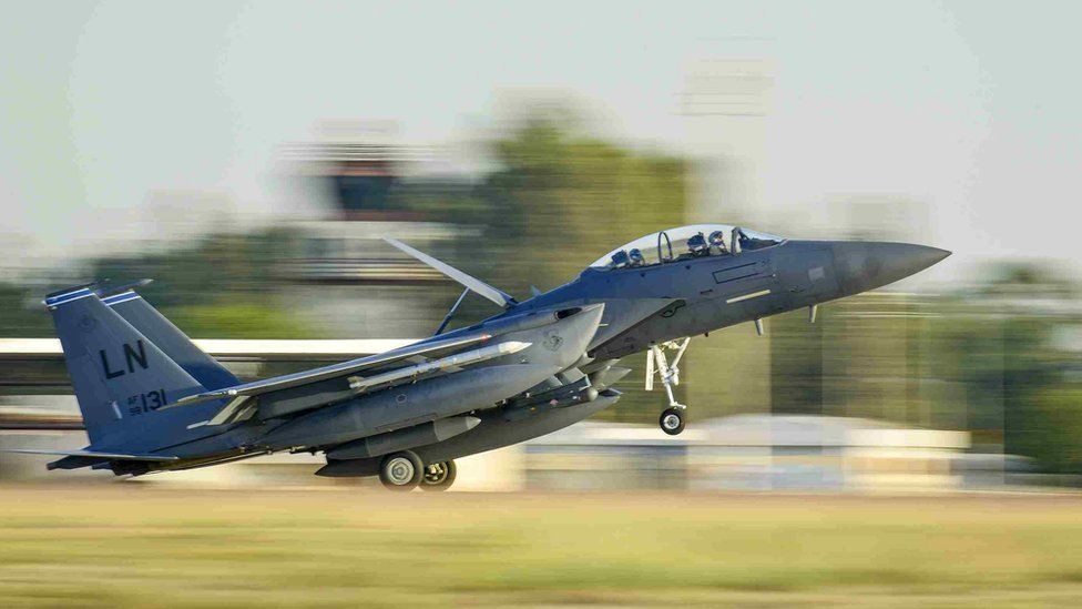 US Air Force F-15E Strike Eagle at Incirlik Air Base, Turkey, deployed in support of counter-IS missions in Iraq and Syria. Nov 2015