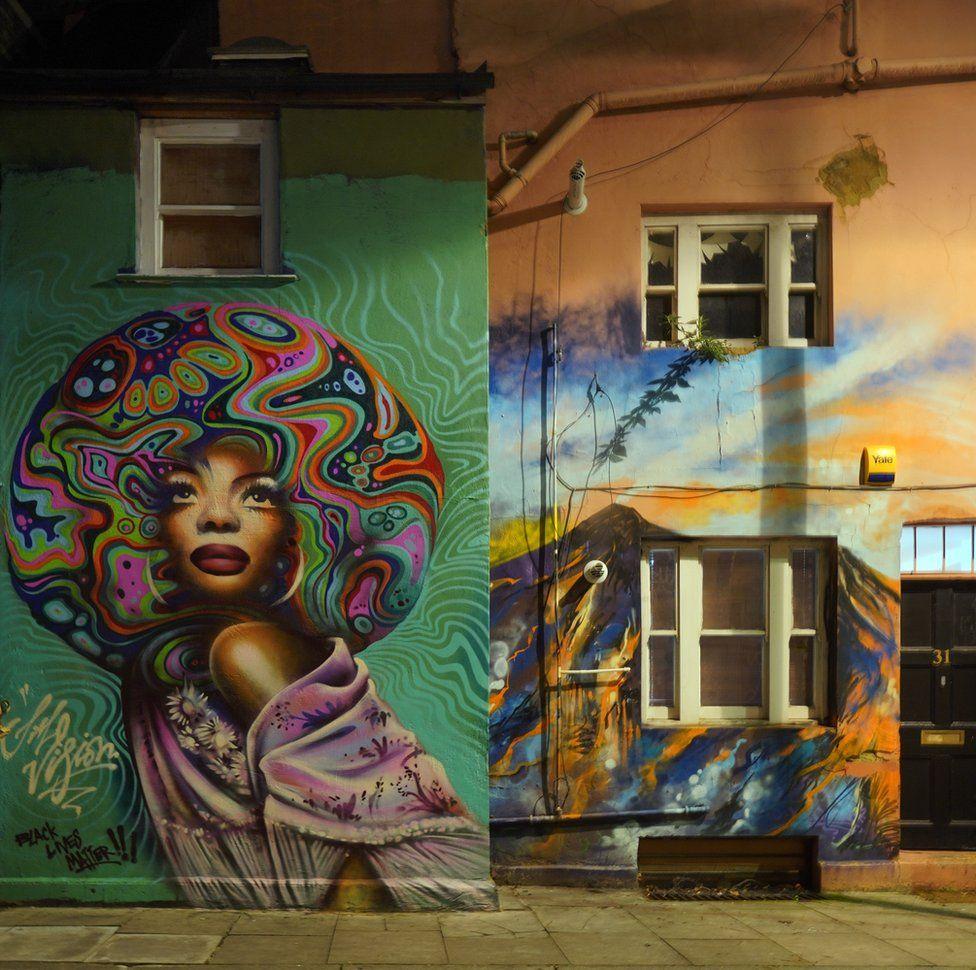 An image of street art celebrating a black woman