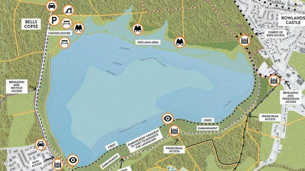 Havant reservoir map