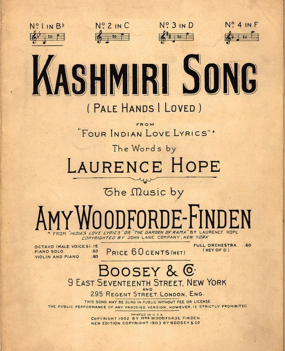 The poem, Kashmiri Song, was set to music