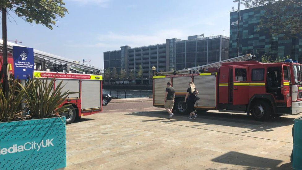 Fire engines at Salford Quays