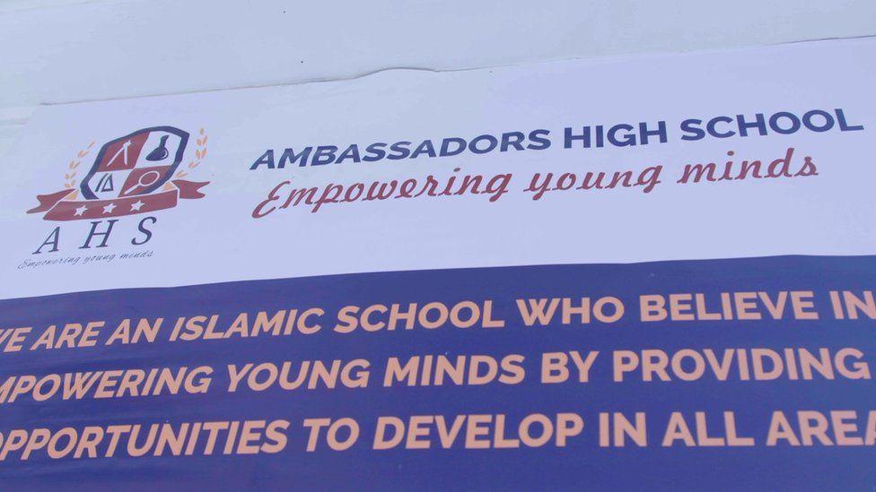 Ambassadors High School sign