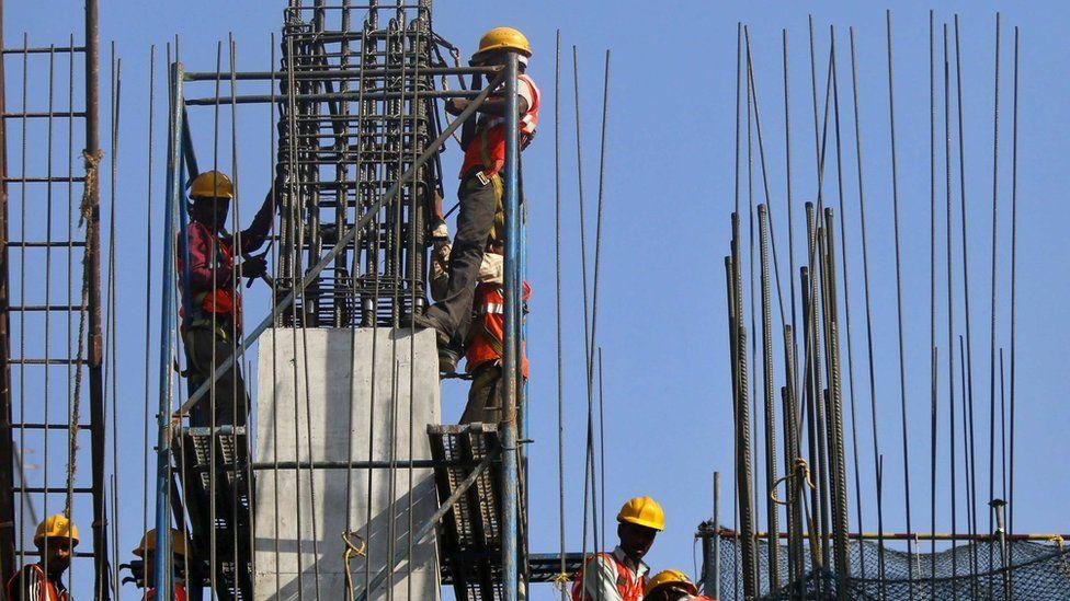 Building site in Mumbai
