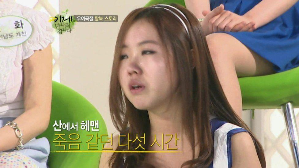 A North Korean defector on a South Korean TV show