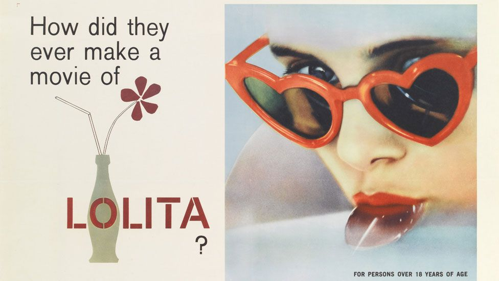 The film poster for Lolita famously showed its star sucking on a lollipop