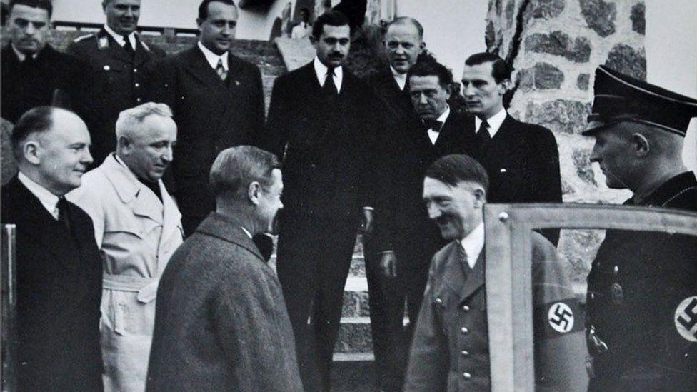 Duke of Windsor and Adolf Hitler