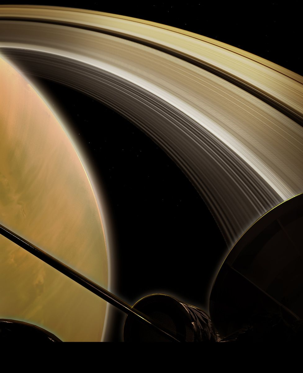 Artwork: Cassini will run the gap between the planet and the rings on 22 occasions