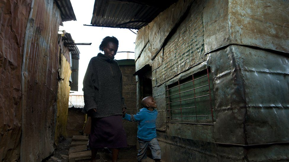 Woman and child in Korogocho