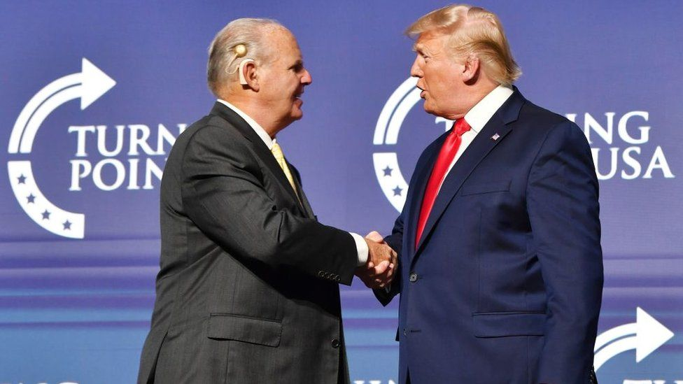 Rush Limbaugh with President Donald Trump
