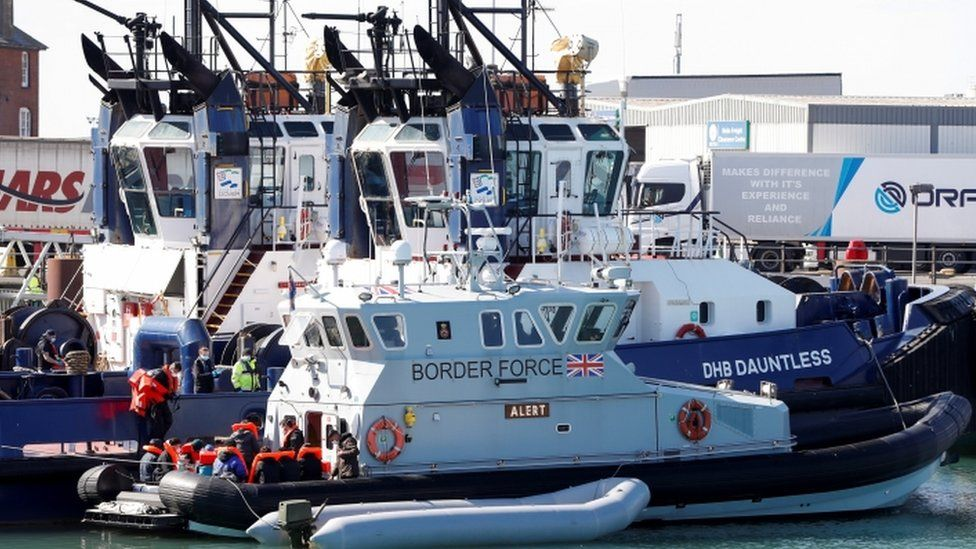 Border Force boat in Dover