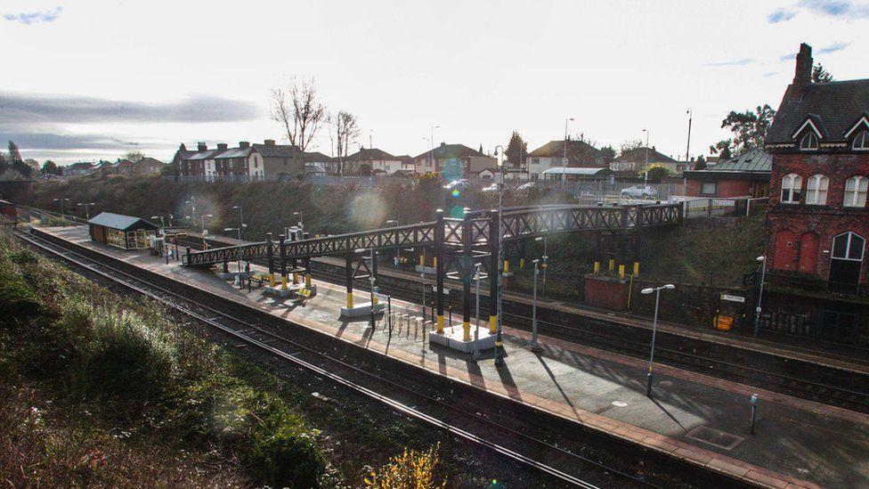 Hunts Cross station near Liverpool