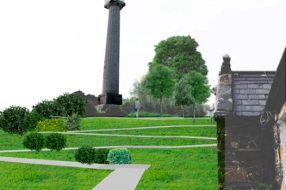 Proposed path leading to Marquess of Anglesey's column