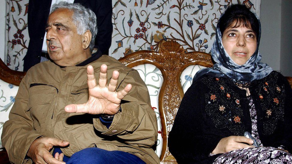 Mufti Mohammad Sayeed with daughter Mehbooba Mufti