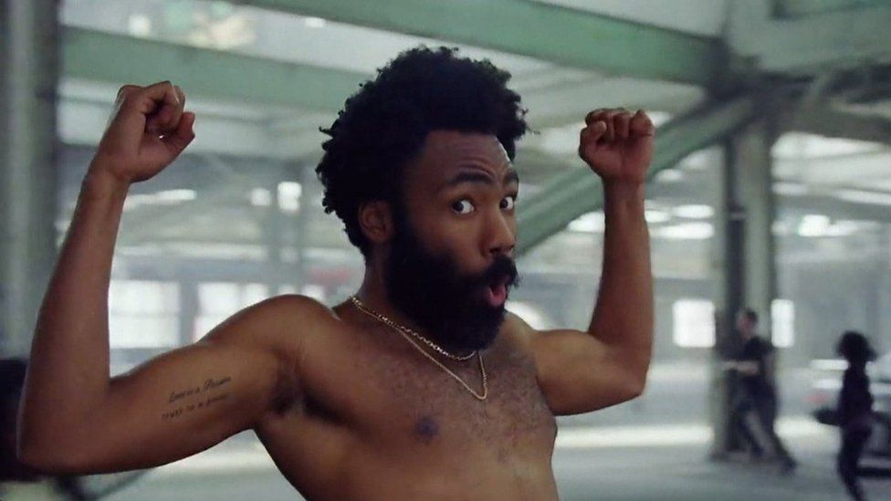 Childish Gambino in the video for This Is America