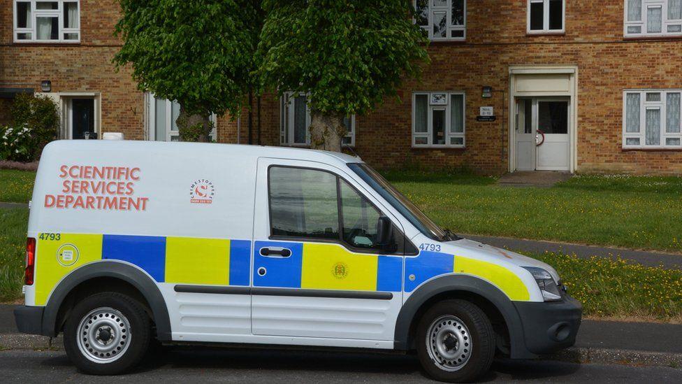 Police at Somborne Drive