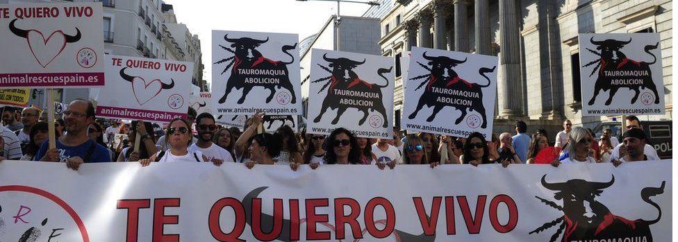 September 2016 protest against bullfighting in Madrid