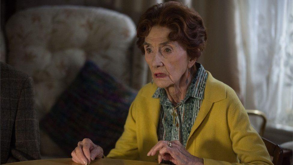 Actress June Brown starring in EastEnders