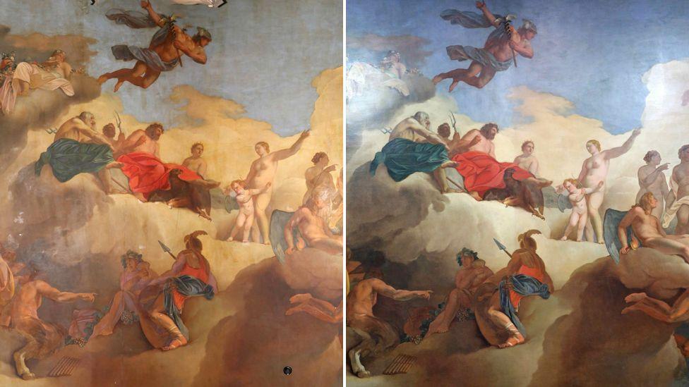 Painting's restoration reveals 'original splendour'