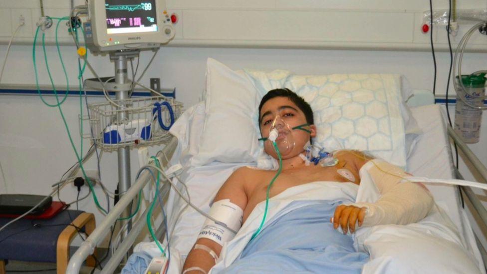 Ahmad Nawaz in hospital