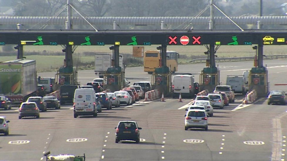 Severn toll booths