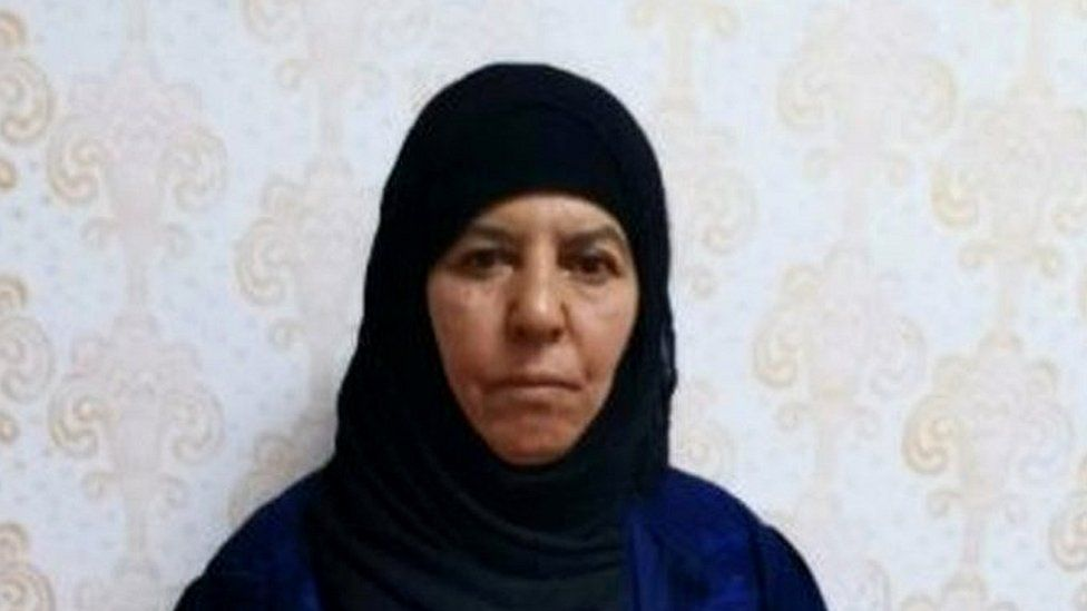 Turkish officials have released an image of Rasmiya Awad - believed to be one of the sisters of the ex-IS leader