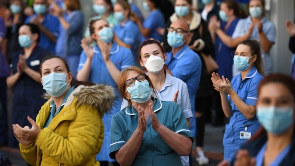 Leeds General Infirmary workers joined in the round of applause