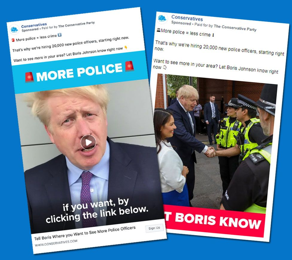 Conservative Party ads on policing