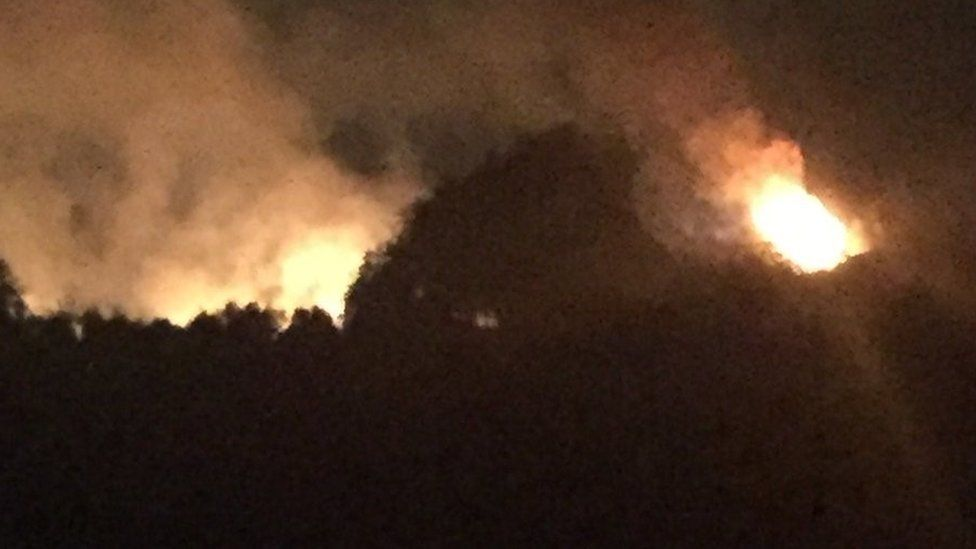 Chobham Common fire
