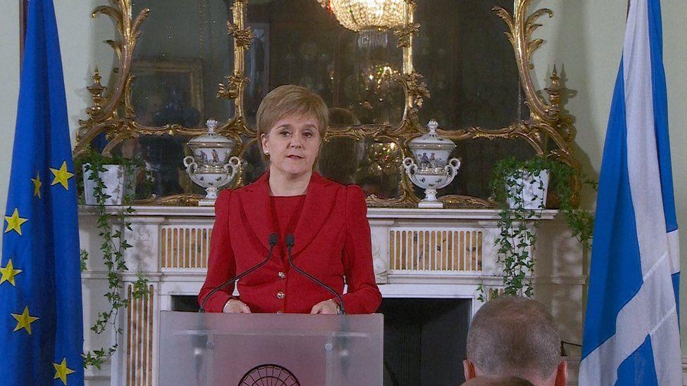 Scottish first minister Nicola Sturgeon