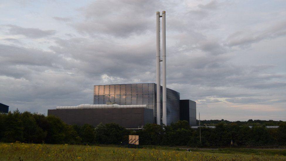 The incinerator at Great Blakenham, near Ipswich