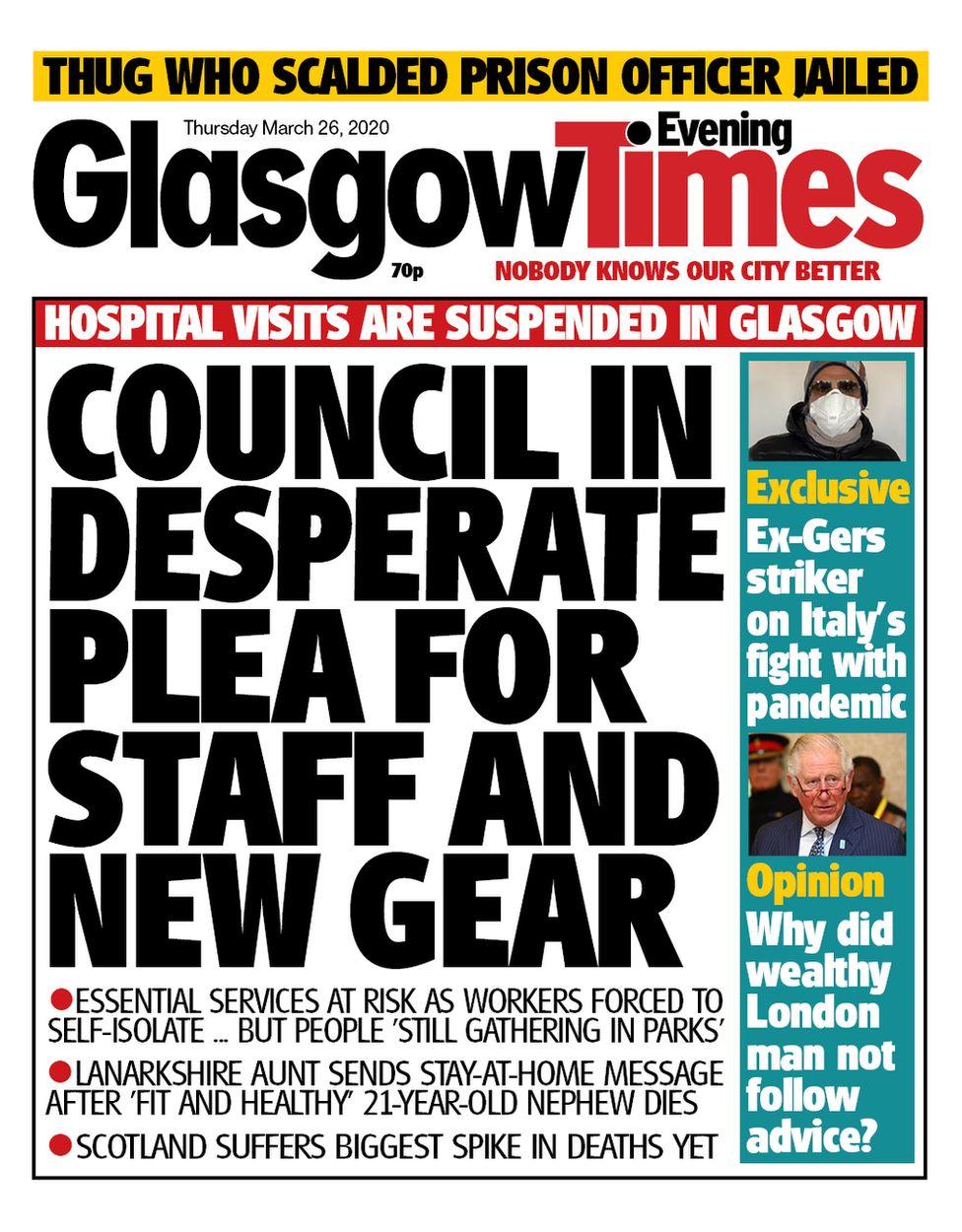 Glasgow evening times