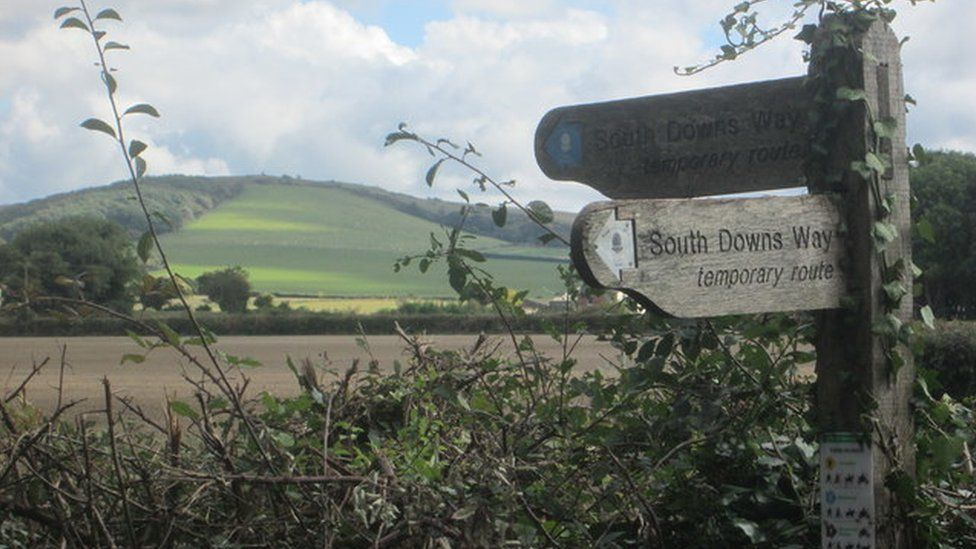 signs for the South Downs Way