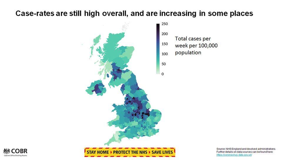 Regional levels of coronavirus