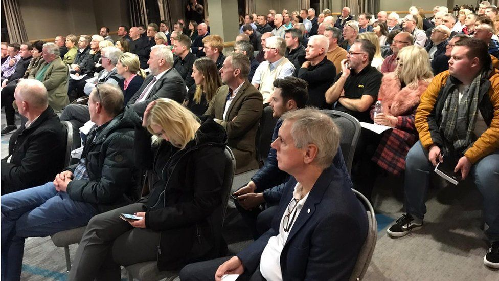 More than 200 small business owners who believe they were mis-sold deals attended the meeting