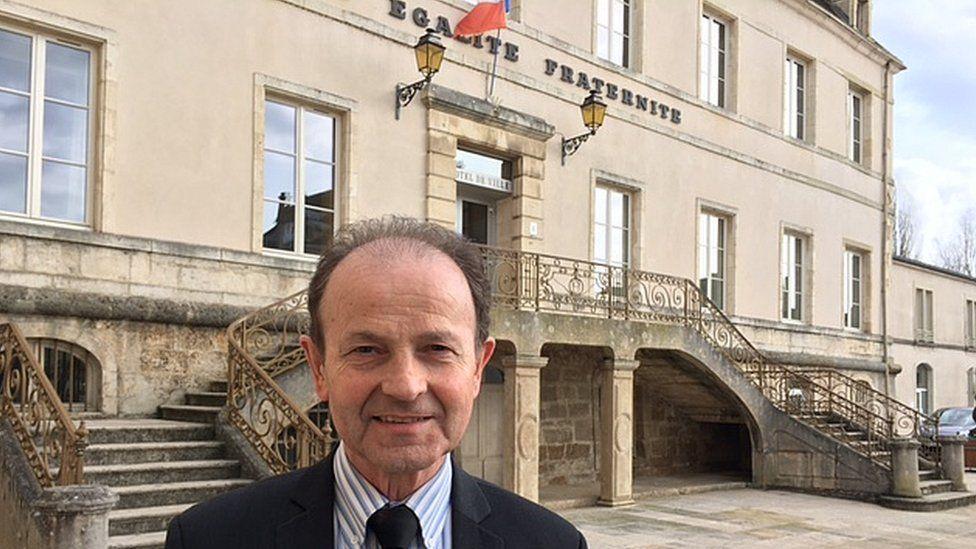 Hubert Brigand, mayor of Chatillon