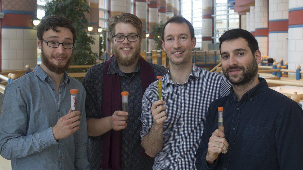 Entomics founders Joe Halstead, Miha Pipan, Matt McLaren and Fotis Fotiadis