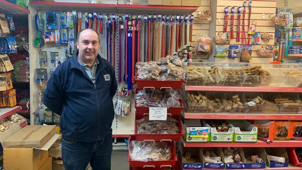 Paul Beresford inside Erdington Pet Centre