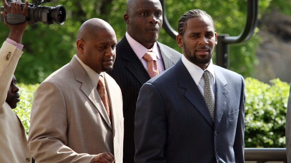 R Kelly arriving in court in 2008