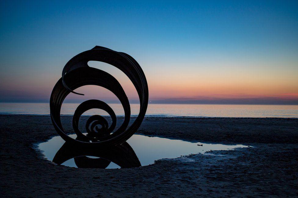 Mary's Shell on Thornton-Cleveleys Beach