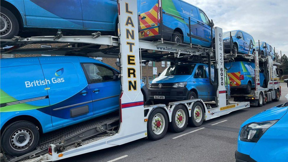 Returned British Gas vans