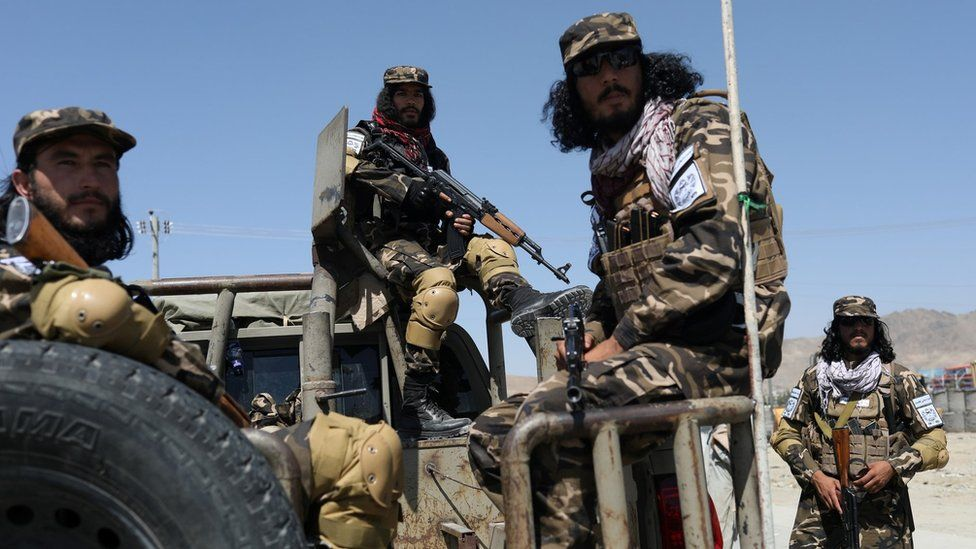 Members of the Taliban Intelligence Special Forces in Kabul on 5 September