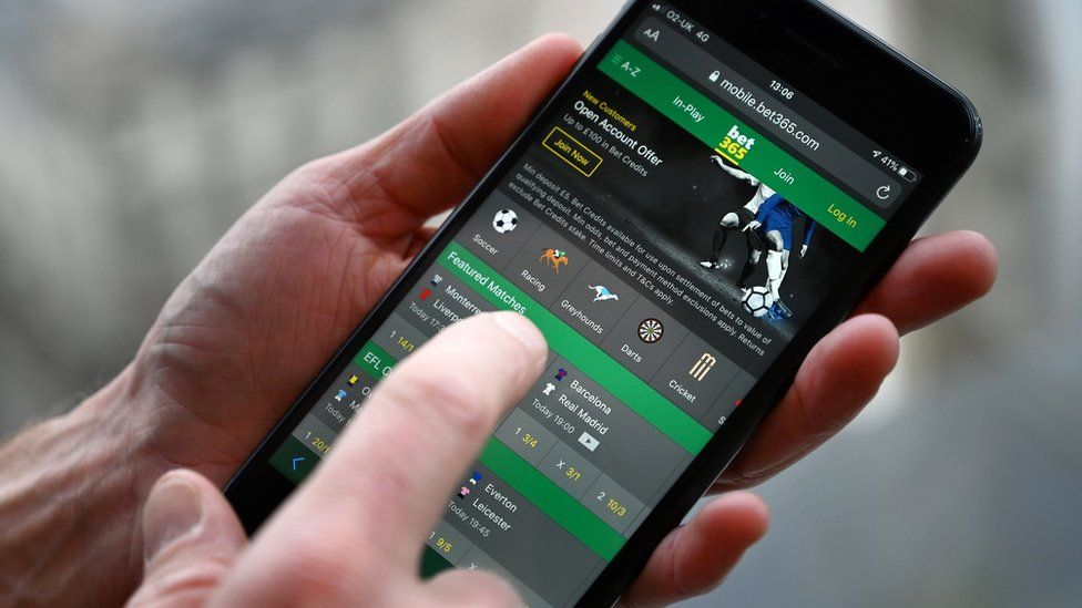 Betting on sport on a mobile phone