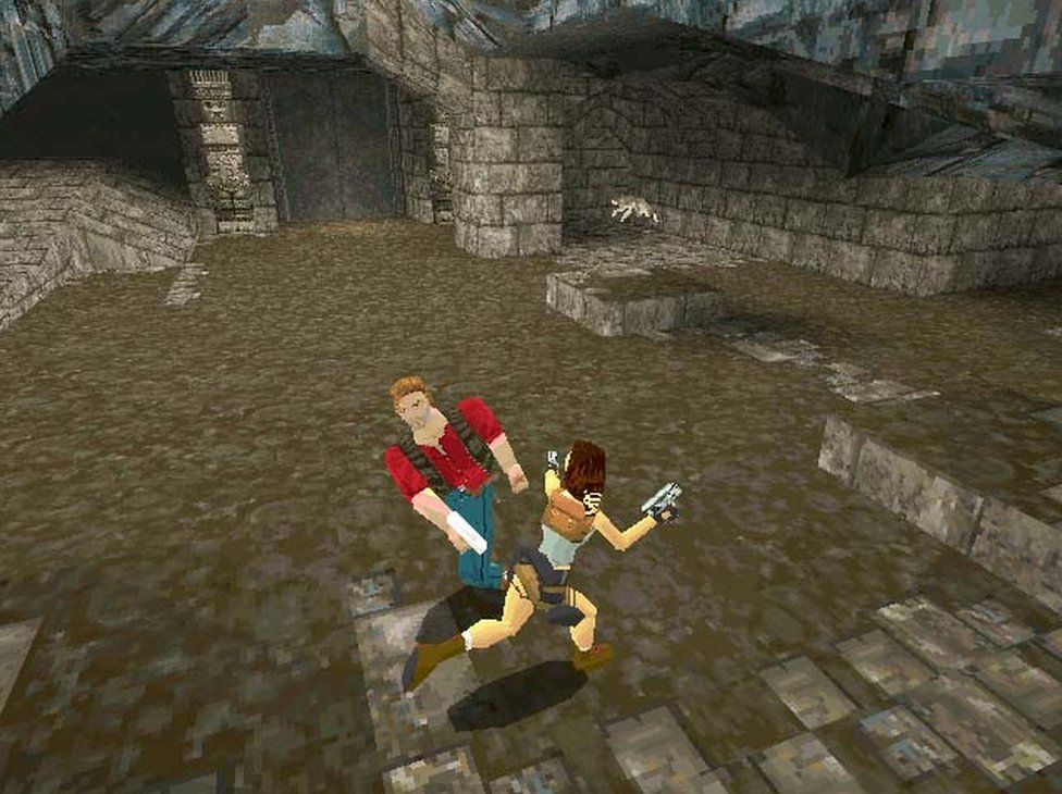 Screenshot from Tomb Raider (first game)
