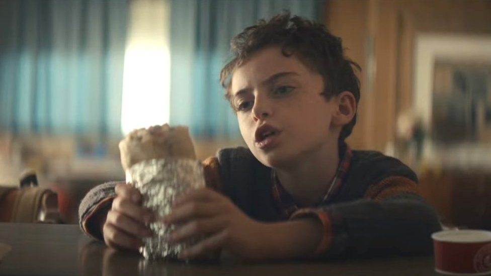 """Chipotle's very first Super Bowl commercial is entitled, """"Can a burrito change the world?"""""""