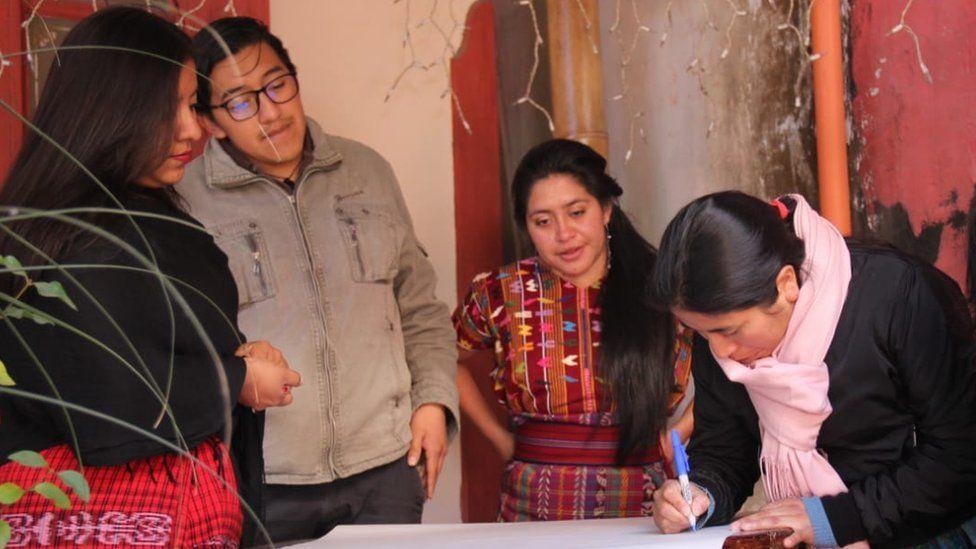 The group of translators in Guatemala