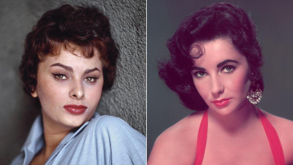 Sophia Loren and Elizabeth Taylor