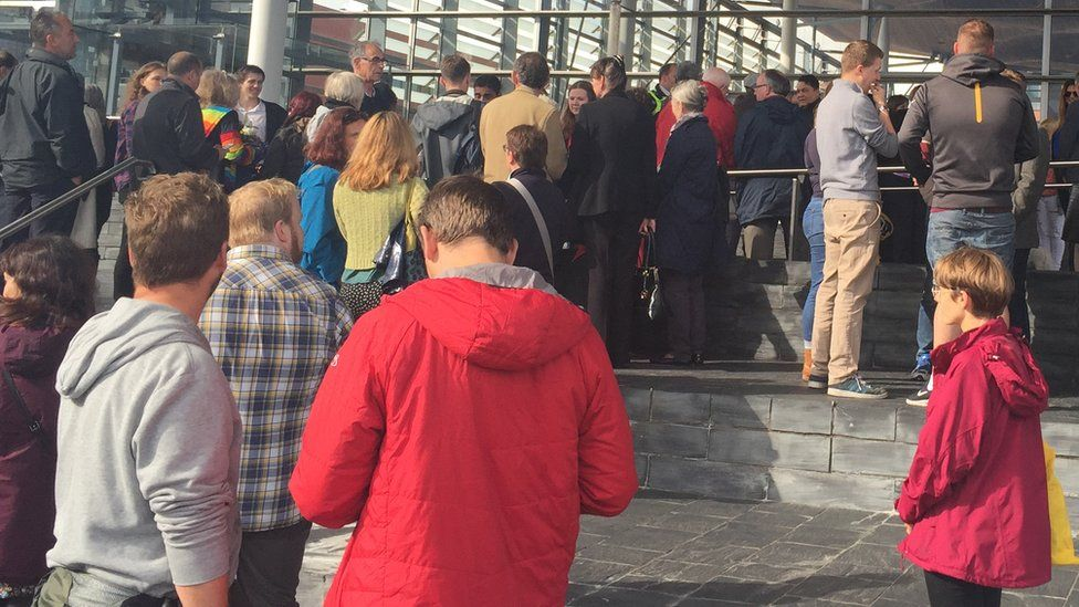 About 300 people attended a vigil at the Senedd