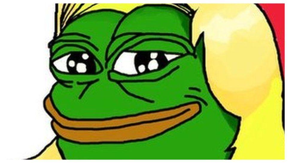 Marine Le Pen as Pepe the Frog
