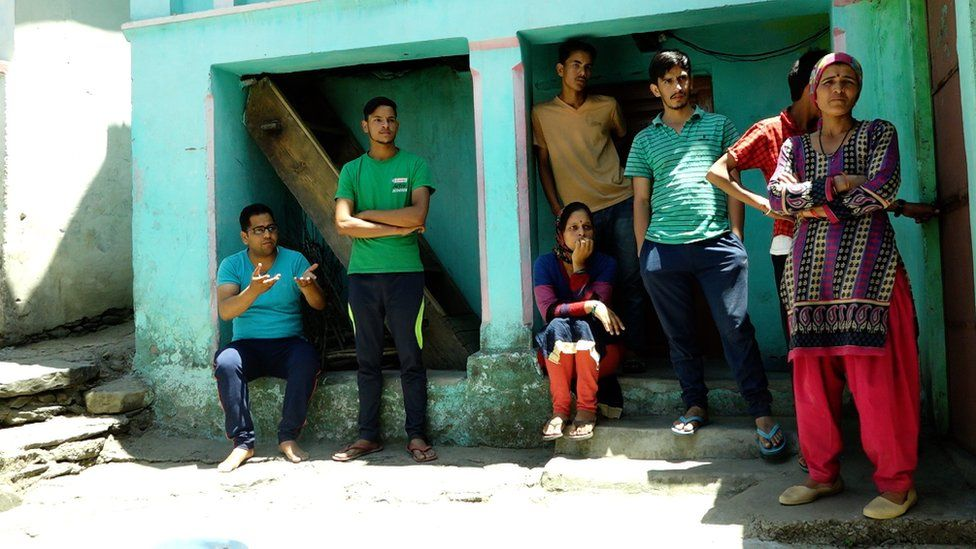 Group of upper-caste residents in the village